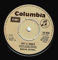 MARLENE DIETRICH Just A Gigolo Vinyl Record 7 Inch Columbia 1978